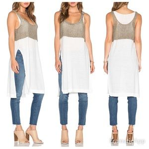 NWT Free People Two Tone Twofer Tunic | M